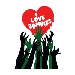 shirt i love zombies...