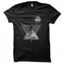 man shirt on the moon...