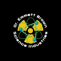 Doc Emmet Brown Science Industries t-shirt black sublimation