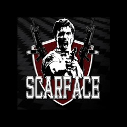 scarface shirt special font sublimation
