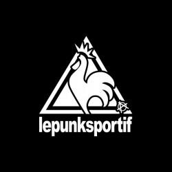 The Punk Sports t-shirt parody Le Coq Sportif black sublimation