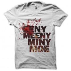tee shirt walking dead EENY, MEENY, MINY, MOE negan sublimation