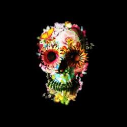tee shirt squelette flowers sublimation