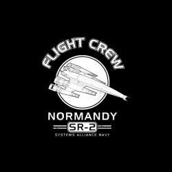 mass effect shirt normandy flight crew sublimation
