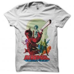 deadpool shirt 70s white sublimation
