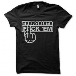tee shirt anti terroriste vulgaire sublimation