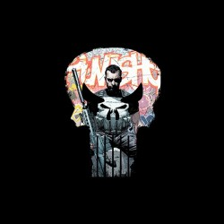 the punisher comic book sublimation