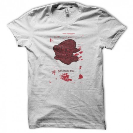 Mario t-shirt with bloodstained white sublimation