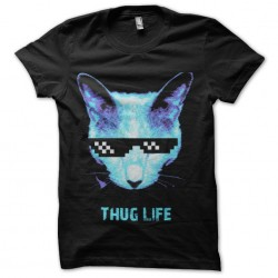 shirt thug life cyber cat...
