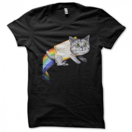 Nyan cat space t-shirt Space cat Galaxy cat black sublimation