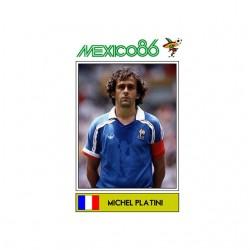shirt michel platini mexico 86 panini sublimation