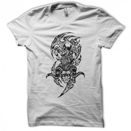 T-shirt Biomech tattoo in white sublimation