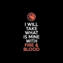 tee shirt fire blood targaryen game of thrones sublimation