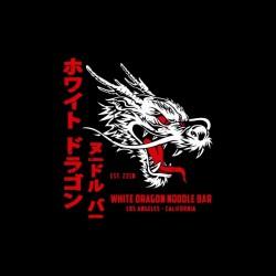 tee shirt white dragon blade runner sublimation