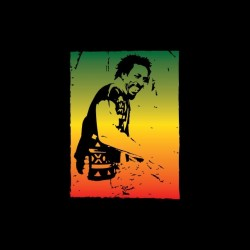 Ijahman rasta artwork black sublimation t-shirt