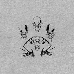 tee shirt alien evolution face sublimation