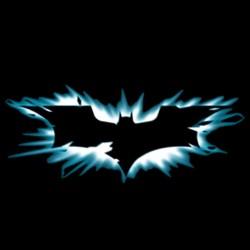 Batman artistic symbol black sublimation t-shirt