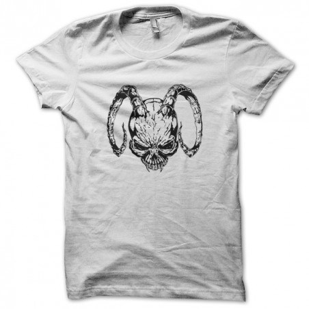 White sublimation demon tattoo t-shirt