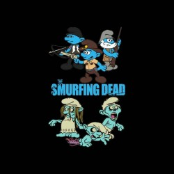 shirt The Smurfs version walking dead sublimation