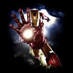 Iron man t-shirt famous posture black sublimation