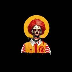tee shirt Ronald McDonald horreur gore zombi sublimation