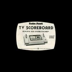 Tee shirt Radio Shack TV Scoreboard  sublimation