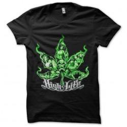 tee shirt ganja high light marijuana sublimation