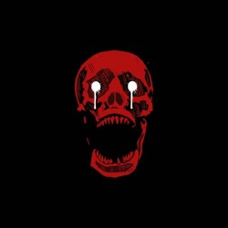 tee shirt red skull horror show sublimation