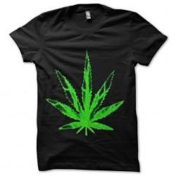 marijuana leaf sublimation weft shirt