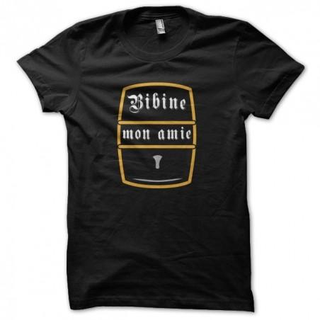 Beer t-shirt Bibine my friend black sublimation