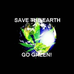 shirt green planet ganja sublimation