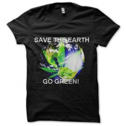 shirt green planet ganja...