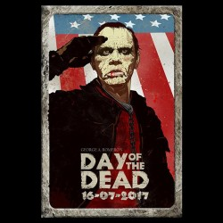 george romero's shirt of the dead black sublimation