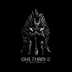 tee shirt game of thrones one throne sublimation