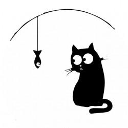 T-shirt black cats do not eat white sublimation