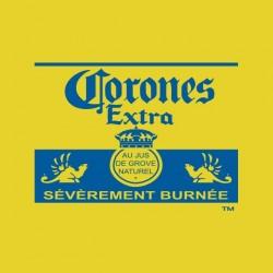 Beer t-shirt Corona parody Corones yellow sublimation
