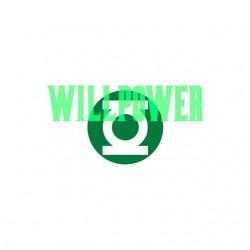 Green Lantern willpower justice court tee shirt white sublimation