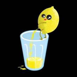 tee shirt citron pressé  sublimation
