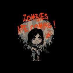 zombie shirt are coming daryl walking dead sublimation