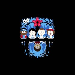 south park stranger things sublimation shirt