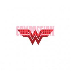 Wonder Woman Compassion Justice League T-Shirt white sublimation