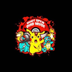 pokemon shirt and walking dead sublimation