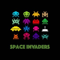 tee shirt space invaders original sublimation