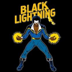 tee shirt Black Lightning sublimation