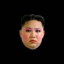 tee shirt Kim Jong-un maquillage sublimation