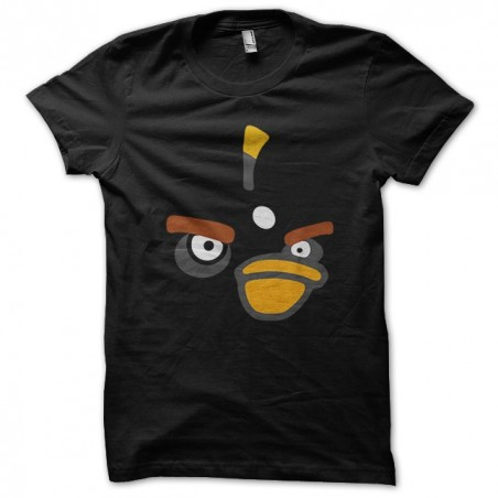 Humorous t-shirt Angry Birds black sublimation