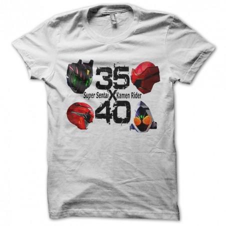 Super felt t-shirt against kamen rider white sublimation