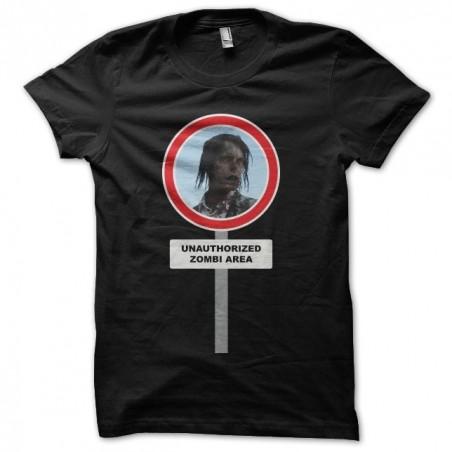 Tee shirt  Walking Dead interdit aux zombis  sublimation
