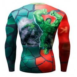 tee shirt hulk avenger moulant compression gym sublimation