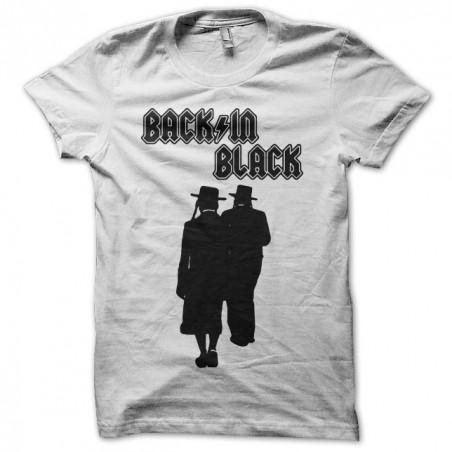 T-shirt Back in Black parody rabbis white sublimation